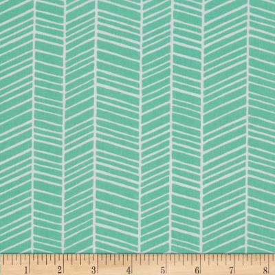 Joel Dewberry True Colors Herringbone Turquoise