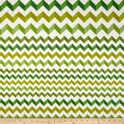 Crinkle Stripe White/Green