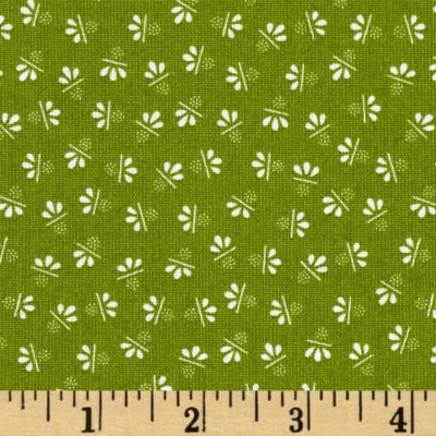 Candy Cane Scattered Flower Green