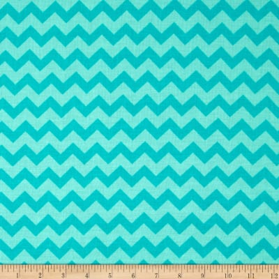 Chevron Tonal Aqua/Light Aqua