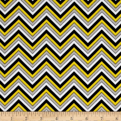 Ink Blossom Chevron Yellow