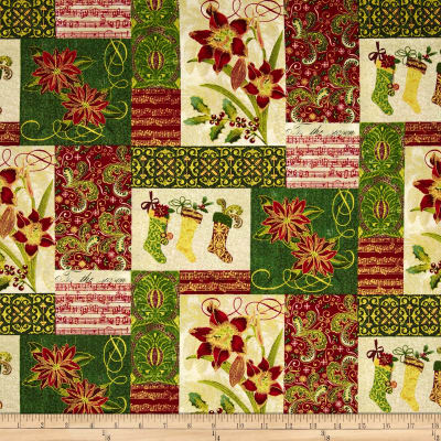 Tis The Season Patchwork Red/Green