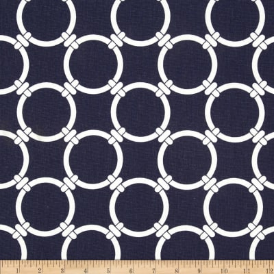 Premier Prints Linked Navy Blue