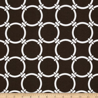 Premier Prints Indoor/Outdoor Linked Bay Brown