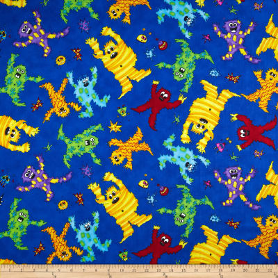 Quilting Treasures Monster Mash Monster Toss Blue