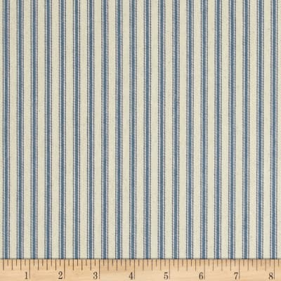 "44"" Ticking Stripe Canvas Twill Denim Blue"