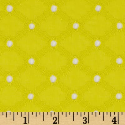 Michael Miller Lattice Cotton Eyelet Starfruit