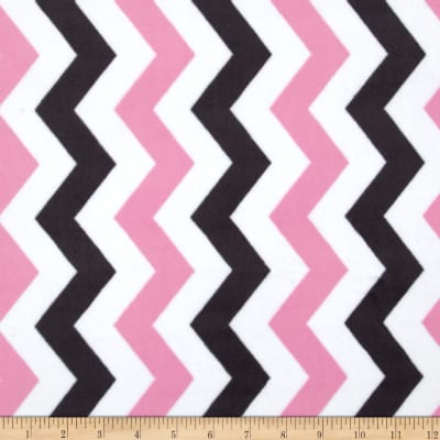 Michael Miller It's A Girl Thing Cozy Shimmy Shake Chevron Orchid