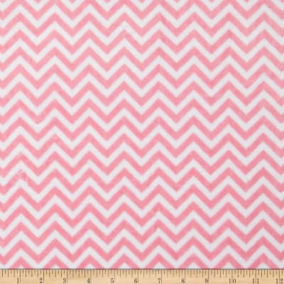 Shannon Minky Cuddle Mini Chevron Paris Pink/Snow