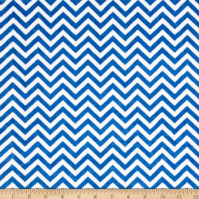 Shannon Minky Cuddle Mini Chevron Electric Blue/Snow
