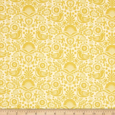 Modern Folkloric Silhouette Yellow