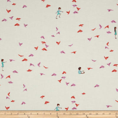Michael Miller Wee Wander With The Birds Pink