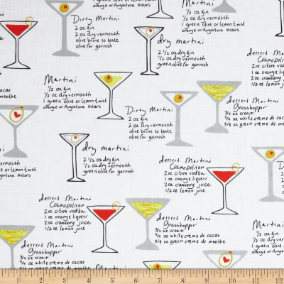 Kanvas Shaken or Stirred Martini Menu White