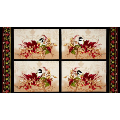 "A Colorful Season Placemats 24"" Panel Multi"