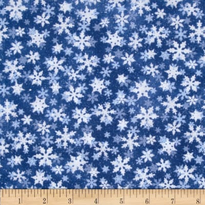 Snow Day Scenic Snowflakes Medium Blue