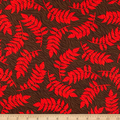 Kanvas Sew Rousseau  Zebra Fern Brown