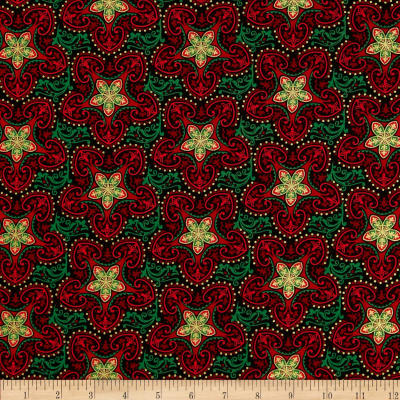 Kanvas Deck the Halls Metallic Christmas Star Red/Green