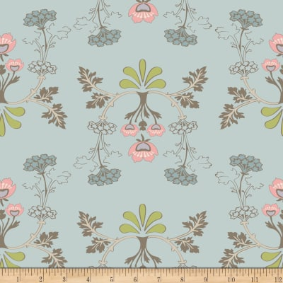 Riley Blake To Norway With Love Large Floral Blue