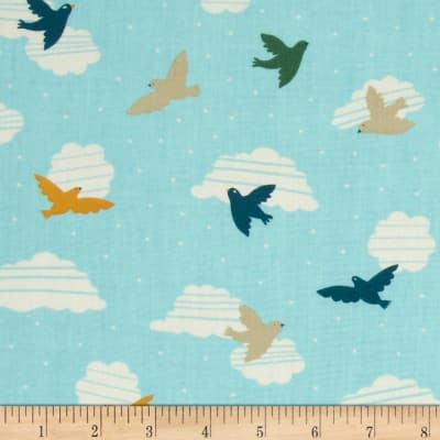 Birch Organic Everyday Party Birds in Flight Multi