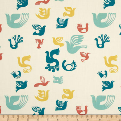 Birch Organic Ipanema Bird Icons Ivory