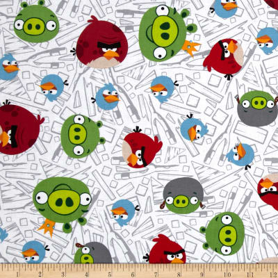 Angry Birds Fence White