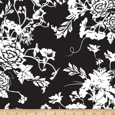 Riley Blake RoseCliff Manor Large Floral Black