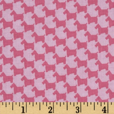 Michael Miller Scottie Houndstooth Pink