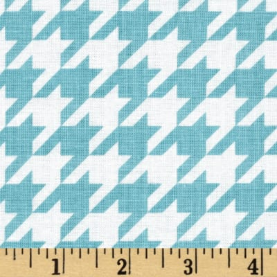 Riley Blake Medium Houndstooth Aqua