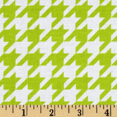Riley Blake Medium Houndstooth Lime