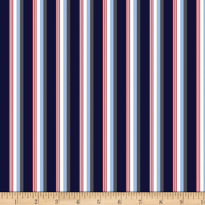 Riley Blake Speedster Sporty Stripes Blue