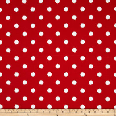 Premier Prints Indoor/Outdoor Ikat Dots Rojo Red