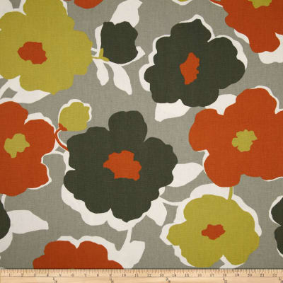 Robert Allen @ Home Top Floral Orange Crush