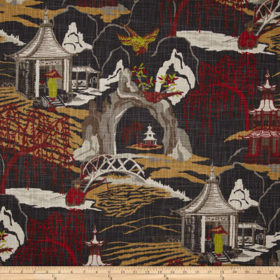 Robert Allen @ Home Neo Toile Red Lacquer