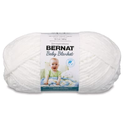Bernat Baby Blanket  Big Ball Yarn (04005) White