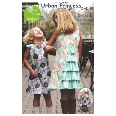 Olive Ann Designs Urban Princess Dress & Doll Dress Pattern