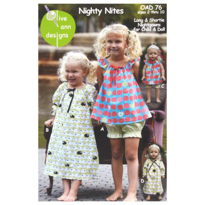 Olive Ann Designs Nighty Nites Pajama Pattern