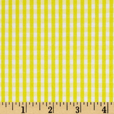 "60"" Cotton Blend Woven 1/8'' Gingham Yellow"