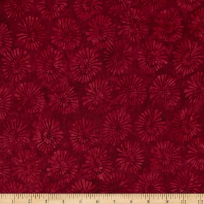 Timeless Treasures Tonga Batik Pom Poms Ruby