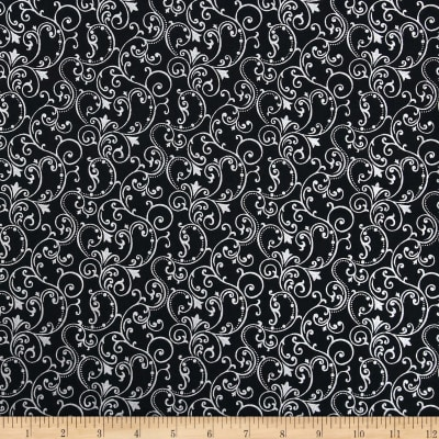 Pearle Silver Opalescent Scroll Black