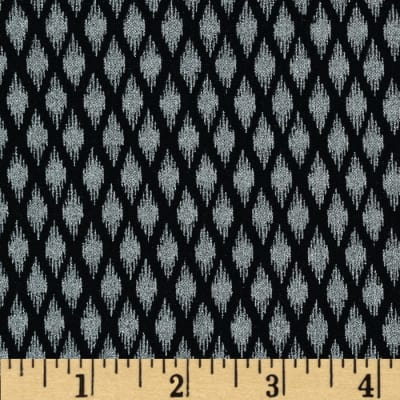 Pearle Silver Opalescent Ikat Black