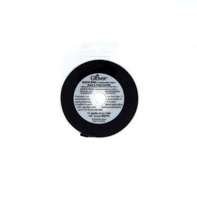 "Clover Quick Bias Fusible Bias Tape 1/4"" Black"