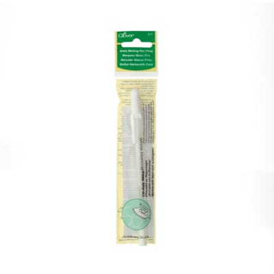 Clover Water Soluble Marking Pen Fine Point-White