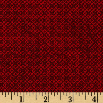 "108"" Wide Essentials Criss Cross Quilt Backing Red"