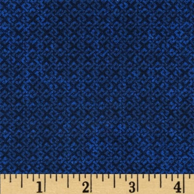 "108"" Wide Essentials Quilt Backing Criss Cross Navy"