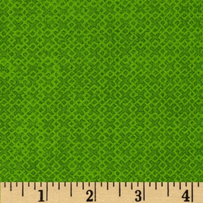 "108"" Wide Essentials Quilt Backing Criss Cross Lime"