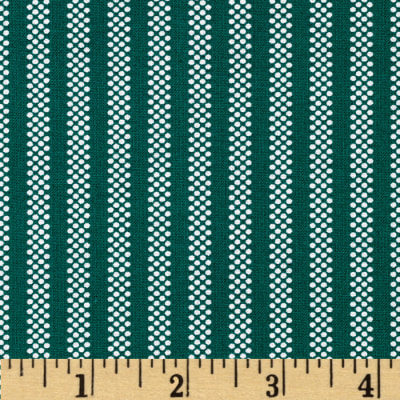 Dotty Stripes Green/White