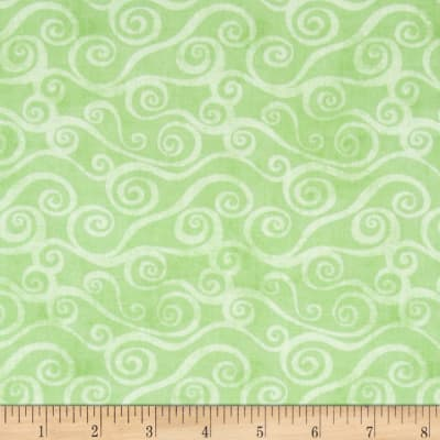 Essentials Swirly Scroll Lt. Green