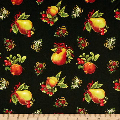 Holiday Magic Tossed Pomegranate & Pears Black