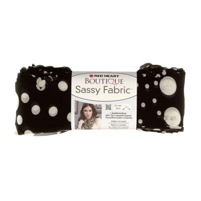 Red Heart Yarn Boutique Sassy Fabric Black Dot