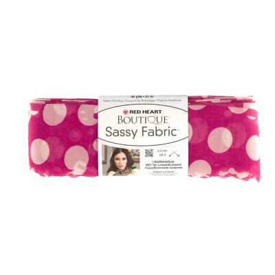 Red Heart Yarn Boutique Sassy Fabric Pink Dot